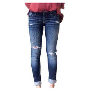 Vigoss Cuffed Skinny Jean | Blue | 12